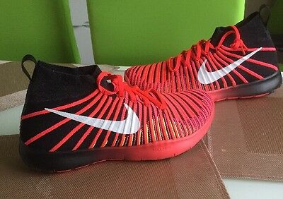 Nike Free Train Force Flyknit Red Gym Men's Running Trainers Uk9.5