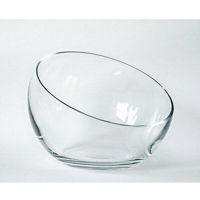 Large Handmade Clear Glass  Bowl Trifles Fruit Salad Dish 20.5 cm
