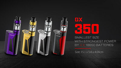 Autentico SMOK GX350 220W / 350W 2 o 4 batterie 18650 + TFV8 Cloud Beast Mod Kit