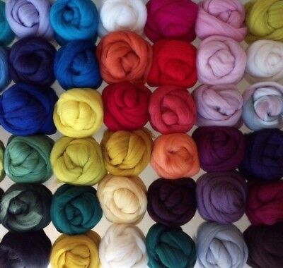 10 g - 200 g Top Merino Wool Roving for Felting Spinning, 23 Colours
