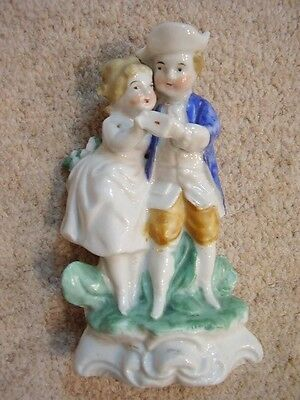 German Dresden Antique porcelain lady and gent   figure group,dancing