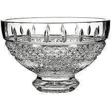 NEW GENIUNE Waterford Crystal Glass Footed Irish Lace Bowl, Designer