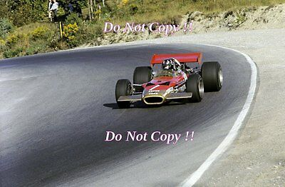 Graham Hill Gold Leaf Team Lotus 49B Canadian Grand Prix 1969 Photograph 2
