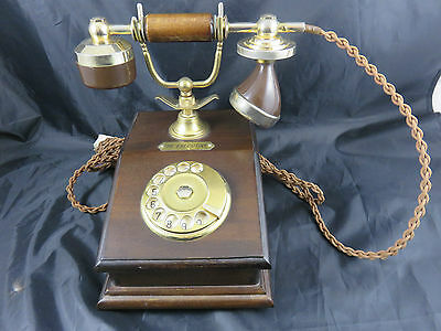 Antiker Drehscheibentelefon The Executive 18 Karat Vergoldet Gold plated Telcer
