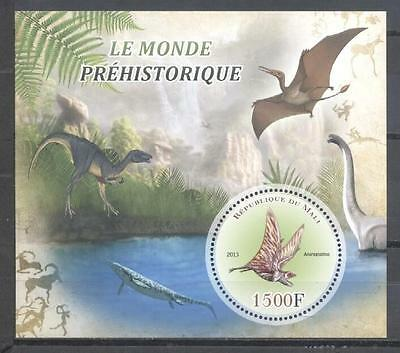(936703) Birds, Dinosaurs, Prehistory, Round Stamp, Private / local issue