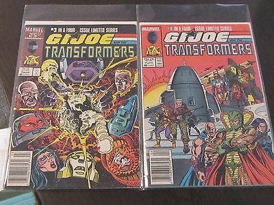 Marvel G.I. JOE and Transformers newstand issues #3,4 of limited series 1987