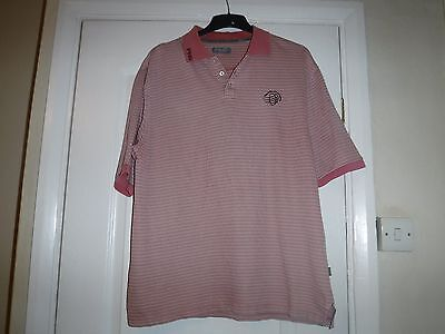 Mens Ping Golf T-Shirt Pink And White Xxl