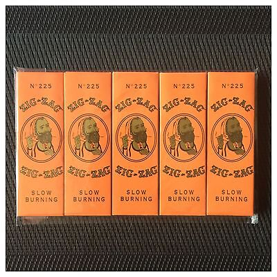 5 Pack 100% Genuine Zig-Zag Imported French *orange* (1 1/4) Rolling Papers