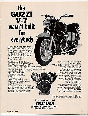 Moto Guzzi V7 advertisement from 1967