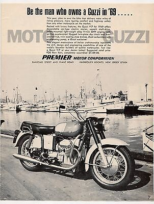 Moto Guzzi V7 advertisement for 1969 / Yamaha Daytona racing
