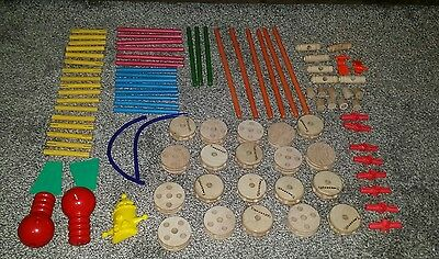 Tinkertoy Jumbo Wood Construction Toy Set in Original Can - 92 pieces out of 102