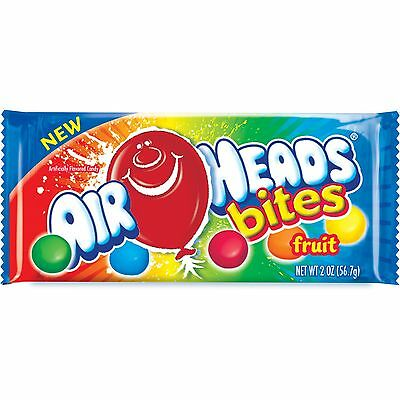 New ! Airheads Air Heads Bites Fruit 2 Ounce Bag, (Pack of 24 Bags)
