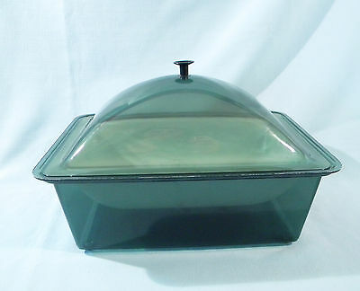 Plastic ~ Acrylic Covered Buffet Catering Serving Bowl Dish Cold Food Ice Chill