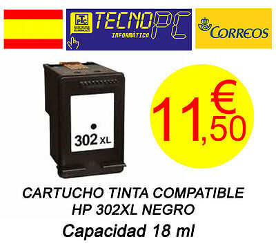 Cartucho Tinta Compatible HP 302XL Negro NO OEM