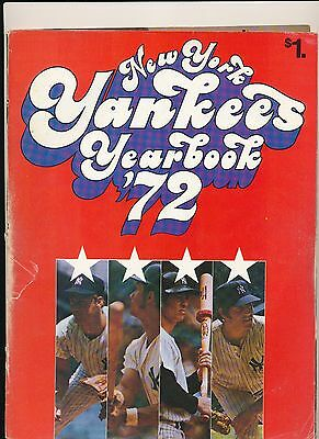 1972 New York Yankees Official Yearbook Cover Falling Off