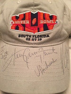 Harry Carson # 53 N. Y. Giants Autographed Super Bowl XLIV Hat HOF And Others