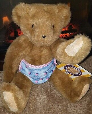"""Valentines Day Authentic Vermont Teddy Bear 16 """" Baby with Diaper"""
