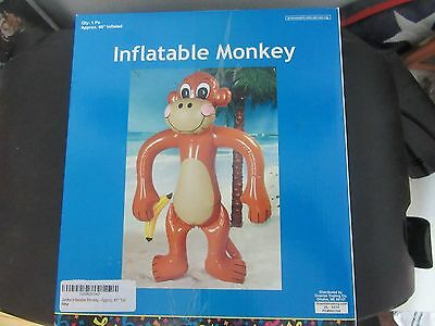 """60"""" Inflatable Monkey & 48"""" Banana New With Tags -  Kids Birthday Party Fun Toy"""