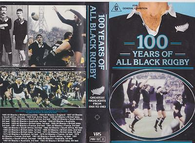 Rugby Union 100 Years Of All Black Rugby   Video Vhs Pal~ A Rare Find