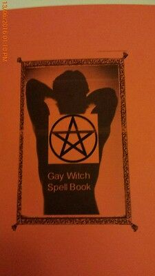 Gay Witch Spell booklet - Rare - Love Lust Money Protection - Gay Male Magick