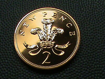 GREAT  BRITAIN    2  pence   1986     PROOF