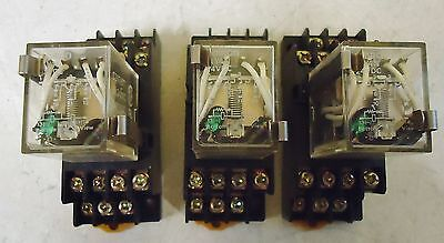 3 Omron My4N Cube Relays, Comes With The Base