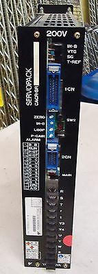 Yaskawa Electric Servopack M/N Cacr-Sr03Ad1Kry110 200V Made In Japan S/N 783520-