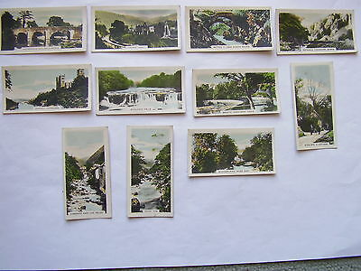 Part Set of 11 Cavander's Beauty Spots of Great Britain Cigarette Cards