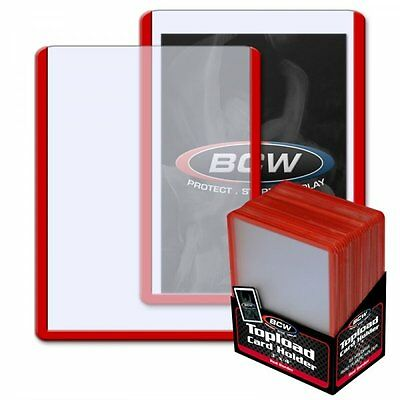 "BCW Topload Card Holders 3x4"" Red bordered 25 Usa Top Brand Ultra Pro"