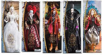 New , Disney alice through the looking glass film collection 5 figure set