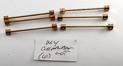 Lot Of 6 Rare Antique Vintage Solid Brass Hex End Collar Bars Nos M4