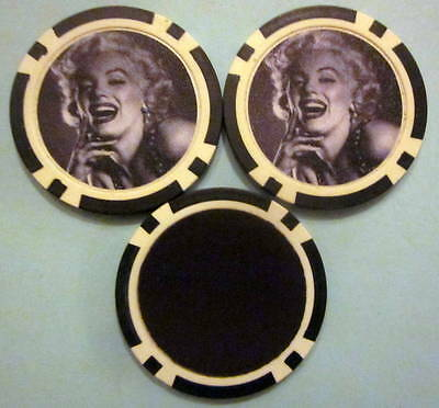 LOT of 2 Marilyn Monroe Poker Chip Magnets Locker Refrigerator Door