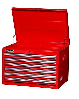 International 26-Inch 6 Drawer Red Tool Chest w Ball Bearing Slides 16-Inch Deep