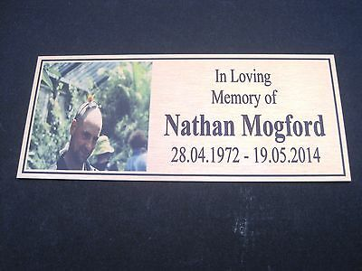 """Memorial Plaque design your own up to 5 lines UV Protected """"exterior use"""""""