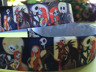 1m A Nightmare Before Christmas/Jack & Sally Ribbon 25mm Cake/scrapbooking/Craft