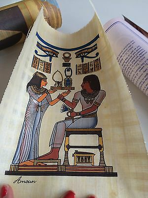 Egyptian Papyrus Picture Art Made In Egypt With Certificate