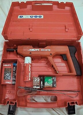 Hilti DX E72!!! Powder Actuated Tool!! With Case & MORE!!! FREE SHIPPING!!!