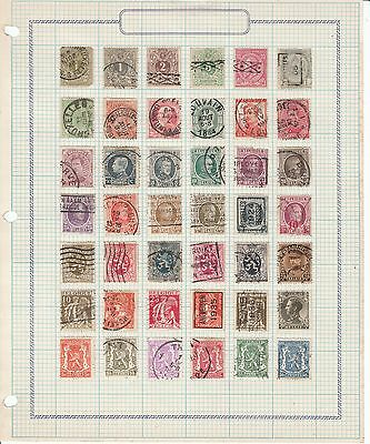 Belgium - 94 Stamps on 3 Sheets - Used