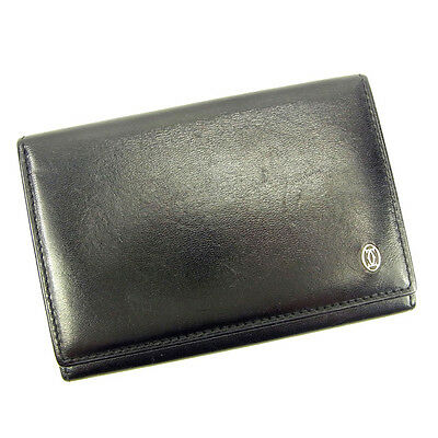 Auth sale cartier business card holder Pasha used J13227