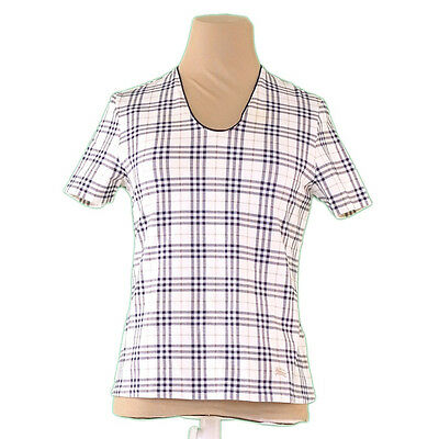 Auth Sale Burberry Cut and sewn Check Ladies used J14075
