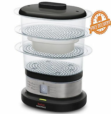 Food Steamer Compact Mini Tefal 3 Tier Electric Stainless Steel New Rice Cooker