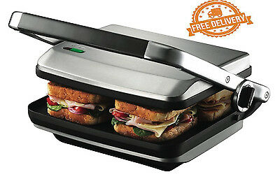 Sandwich Maker Grill Cafe Press Nonstick Sunbeam Electric Kitchen 4Slice Toaster