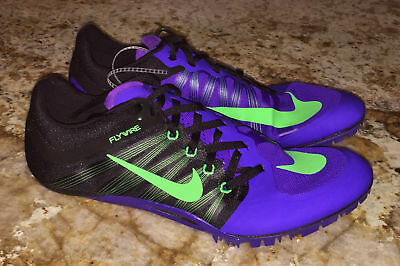 info for fcf9c 9f25d NIKE JA Fly 2 Purple Black Lime Gre Track Sprint Spikes Shoes Mens 10.5 11  12