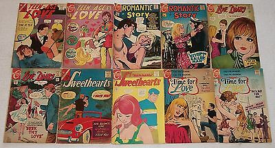Teen-Age Love Romantic Story Love Diary Sweethearts Time For Love Silver Age Lot