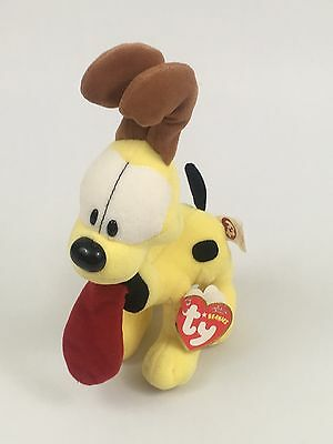 """6"""" soft cute odie the dog from garfield ty beanie babies plush  2007 New -D3"""