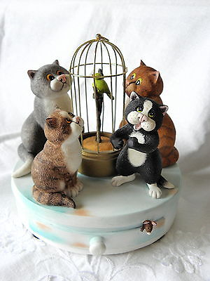 Border Fine Arts ~ Comic Curious Cats ~ Going For A Song ~ Linda Jane Smith