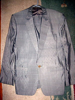 """Vintage 1980s Gianni Versace grey silk suit made in Italy size UK medium 38"""""""