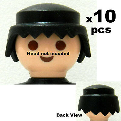 Playmobil 10 pcs Traditional Black Hair -  Ref A1-02