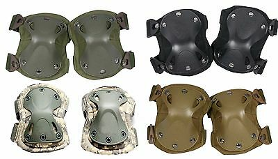 Knee Elbow Safety Pads Airsoft Tactical Combat Protection Outdoor Sports X Shell