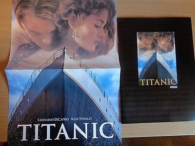 TITANIC Chinese Souvenir Program with poster 1997